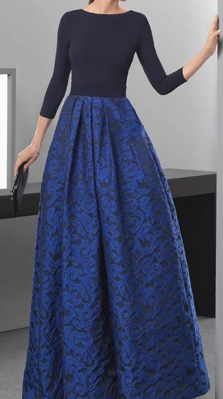 مدل لباس مجلسی سورمه ای