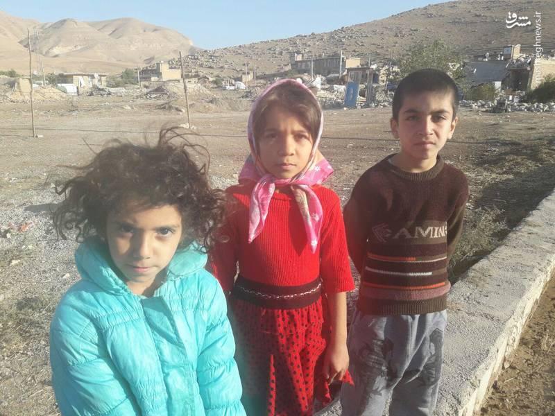 وضعیت روستای ازگله پس از زلزله
