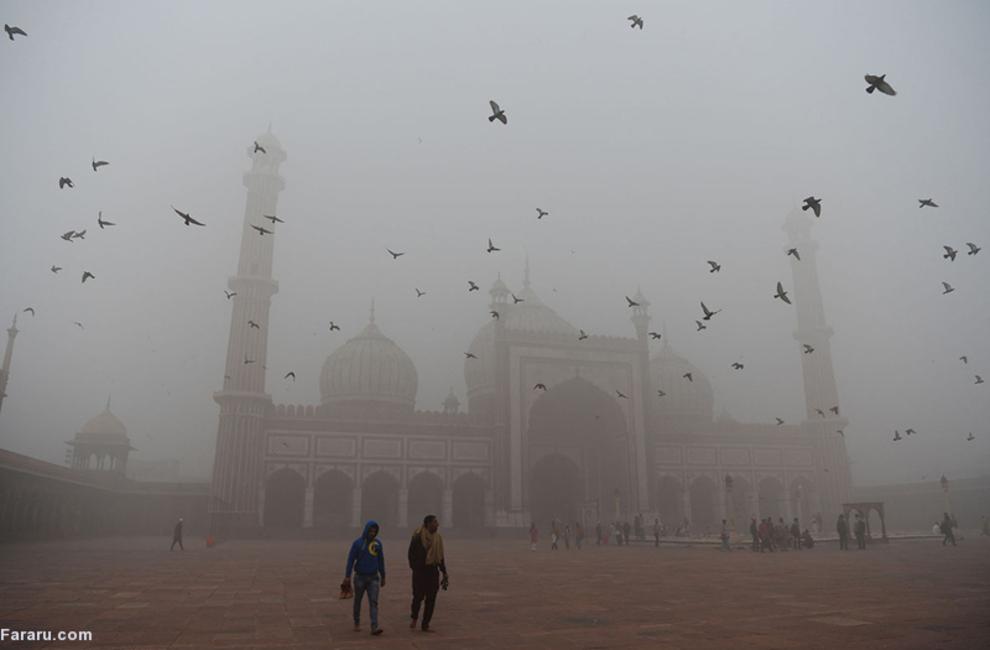 آلودگی شدید هوا در هندوستان
