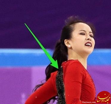 پاره شدن لباس اسکی باز کره ای + عکس