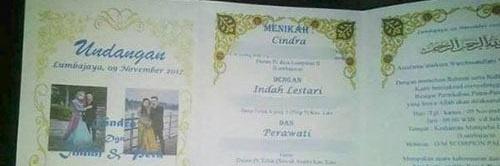 کارت عروسی برای دو عروس و یک داماد