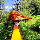 چادر معلق در هوا نیم تن وزن را تحمل میکند