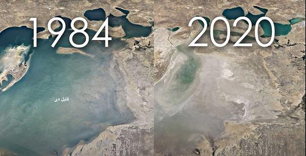 مشاهده تغییرات زمین در Google Earth