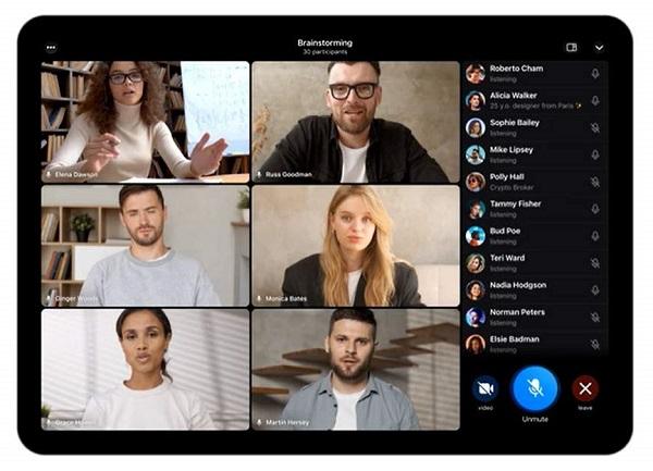 نحوه ویس چت گروهی در تلگرام