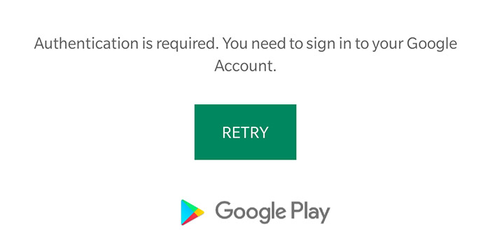 رفع خطای Authentication is required گوگل پلی